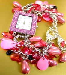 Pink Pearls Beads Shells Cha Cha Watch