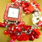 Red Pearls Beads Shells Cha Cha Watch