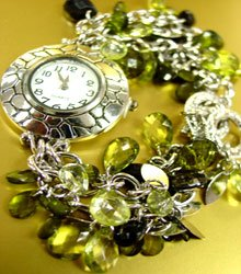 Green Lucite Crystals Cha Cha Watch