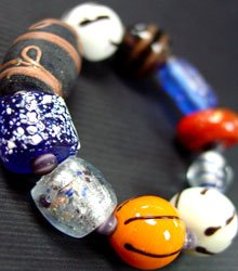 Multi Glass Murano Beads Bracelet 1B2456