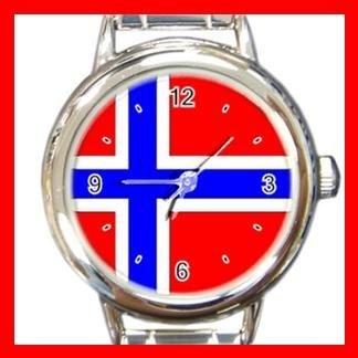 Norway Flag Hobby Italian Charm Wrist Watch 006