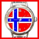 Norway Flag Hobby Italian Charm Wrist Watch 006