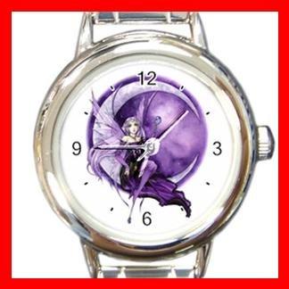 Purple Moon Fairy Fantasy Italian Charm Wrist Watch 008