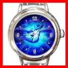 Om Infinity Blue Italian Charm Wrist Watch 012