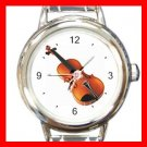 Violin Music Italian Charm Wrist Watch 014