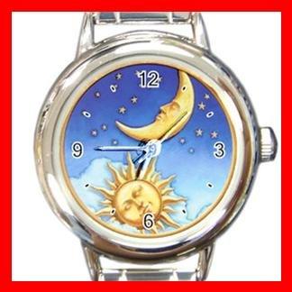 Sun Moon Stars Italian Charm Wrist Watch 016