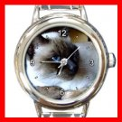 Siamese Cat Pet Animal Italian Charm Wrist Watch 018