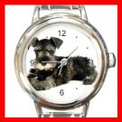 Schnauzer Dog Italian Charm Wrist Watch 035