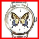 Butterfly Hobby Fun Italian Charm Wrist Watch 036