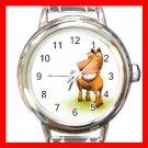 3D Horse Hobby Italian Charm Wrist Watch 042