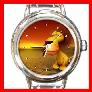 3D Lion Animal Hobby Italian Charm Wrist Watch 043