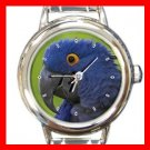 Hyacinth Macaw Bird Italian Charm Wrist Watch 046