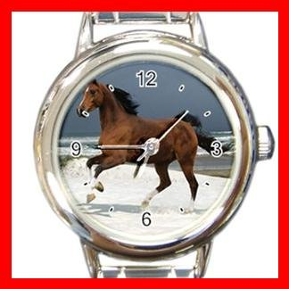 Horse Running on Beach Italian Charm Wrist Watch 047