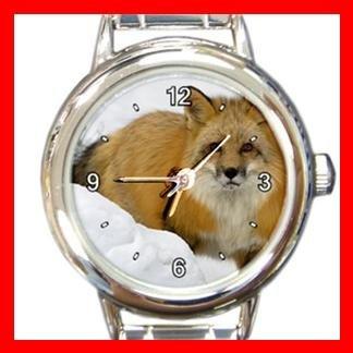 Red Fox in Snow Italian Charm Wrist Watch 048