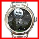Halloween Moon Italian Charm Wrist Watch 050