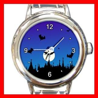 Halloween Graveyard Italian Charm Wrist Watch 052