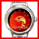 Halloween Witch Pumpkin Italian Charm Wrist Watch 053