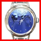Dolphin Lovers Italian Charm Wrist Watch 055