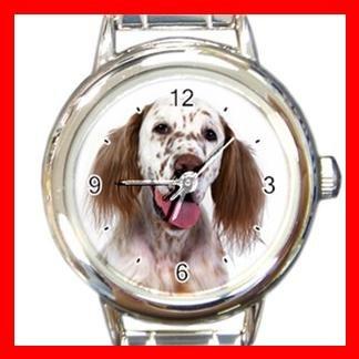 English Setter Dog Italian Charm Wrist Watch 058