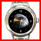 Eagle Eye American Flag Italian Charm Wrist Watch 059