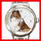 Shetland Sheepdog Dog Pet Italian Charm Wrist Watch 064