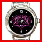 Pink Heartagram Italian Charm Wrist Watch 071