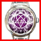 Pink Heartagram Italian Charm Wrist Watch 072