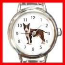 Bull Terrier Dog Pet Animal Italian Charm Wrist Watch 073