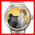 Yorkshire Terrier Dog Italian Charm Wrist Watch 079