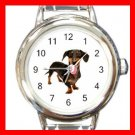 Dachshund Dog Italian Charm Wrist Watch 084