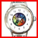 Pentacle Rainbow Italian Charm Wrist Watch 086
