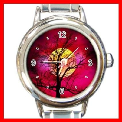 Sunset Tree Nature Italian Charm Wrist Watch 089