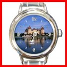 Castle Around Lake Italian Charm Wrist Watch 095