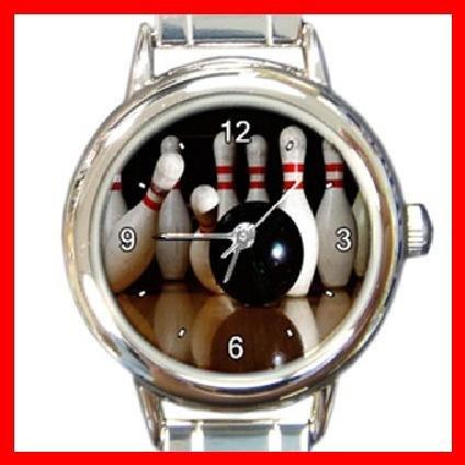 Bowling Sport Game Italian Charm Wrist Watch 100