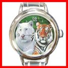 Brothers Albino and Bengal Tigers Italian Charm Wrist Watch 103
