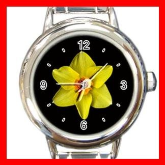 Daffodil Yellow Flower Italian Charm Wrist Watch 115