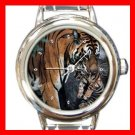 Bengal Tiger and Its Baby Italian Charm Wrist Watch 118