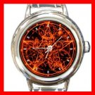Wicca Pentagram Pentacle Italian Charm Wrist Watch 121