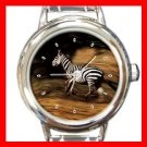 Zebra Wild Animal Italian Charm Wrist Watch 122