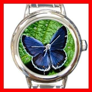 Blue Butterfly Italian Charm Wrist Watch 133