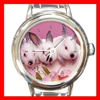 Rabbits Rabbit Animal Italian Charm Wrist Watch 138