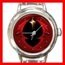 Darksome Night Shining Moon Round Italian Charm Wrist Watch 145