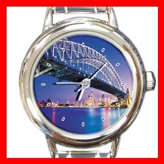 Sydney Harbour Bridge Round Italian Charm Wrist Watch 150