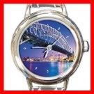 Sydney Harbour Bridge Round Italian Charm Wrist Watch 150