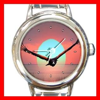 Wahawk Flying Round Italian Charm Wrist Watch 156
