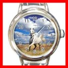 Art Summer Horse Blue Sky Round Italian Charm Wrist Watch 158