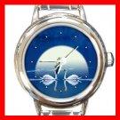 Gallery Swans Round Italian Charm Wrist Watch 159