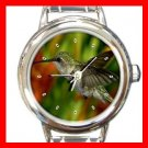 Hummer Bird Round Italian Charm Wrist Watch 160