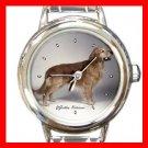 Golden Retriever Dog Round Italian Charm Wrist Watch 162