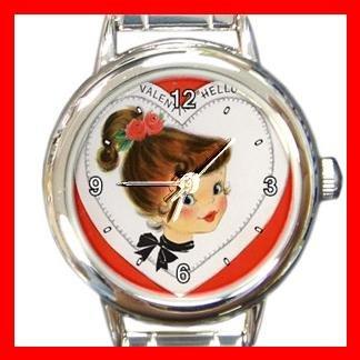 A Valentine Hello Round Italian Charm Wrist Watch 167